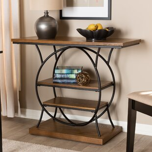 Tallent Wood Metal Circular Console Table