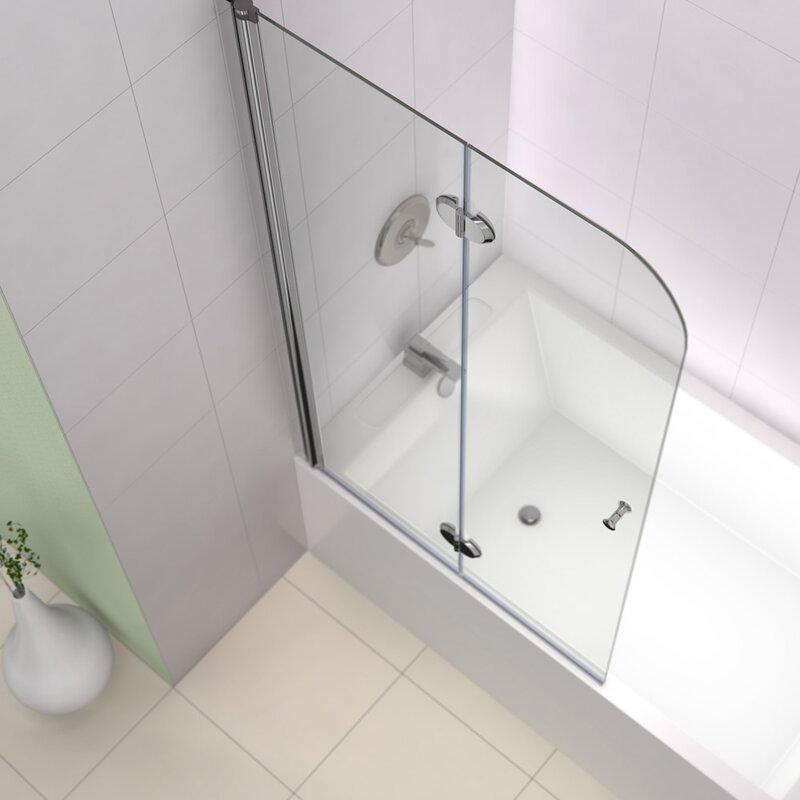Dreamline Aqua Fold 36 Quot X 58 Quot Hinged Frameless Tub Door