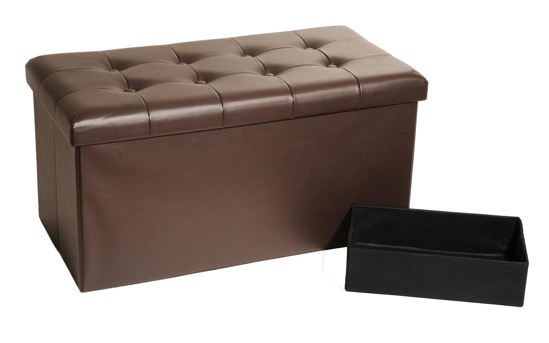 Seville Classics Faux Leather Storage Bench U0026 Reviews | Wayfair