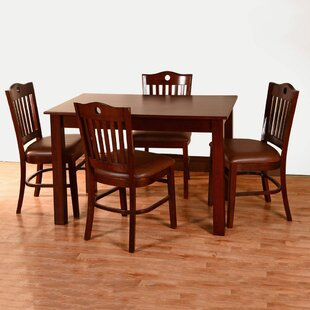 Kenner 5 Piece Solid Wood Dining Set