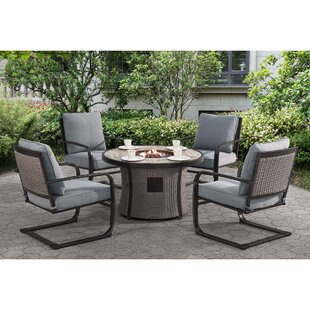 Robertson Dining Set With Cushions And Firepit