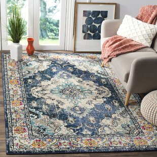 Ady Navy Light Blue Area Rug