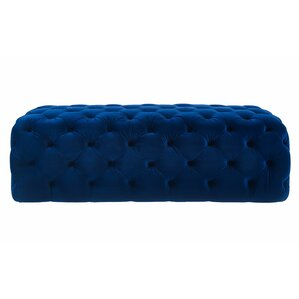 Alfhild Velvet Ottoman by Willa Arlo Interiors