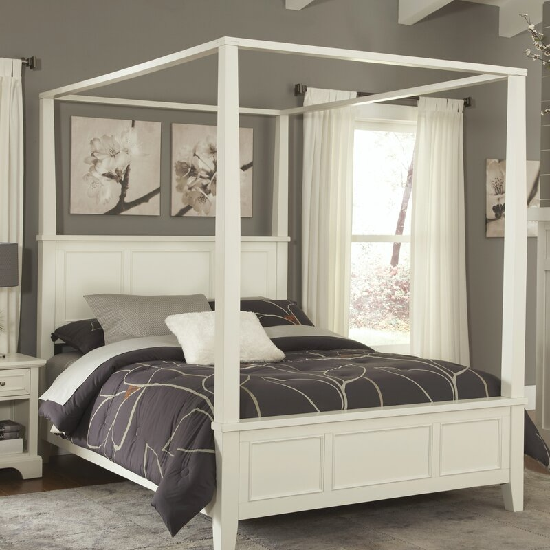 Canopy Bed alcott hill lafferty canopy bed & reviews | wayfair