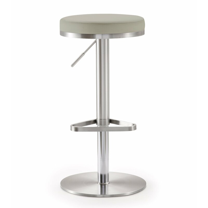 Heitor Adjustable Height Swivel Bar Stool Allmodern