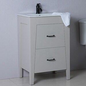 24  Single Bathroom Vanity SetModern Bathroom Vanities   Cabinets   AllModern. 24 In Vanity With Sink. Home Design Ideas