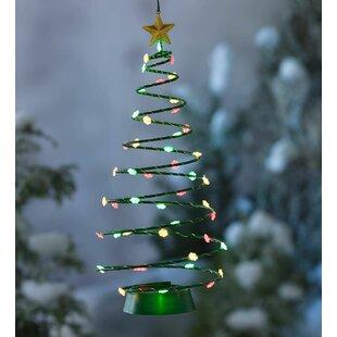 solar hanging christmas tree lighted display - Solar Christmas Tree
