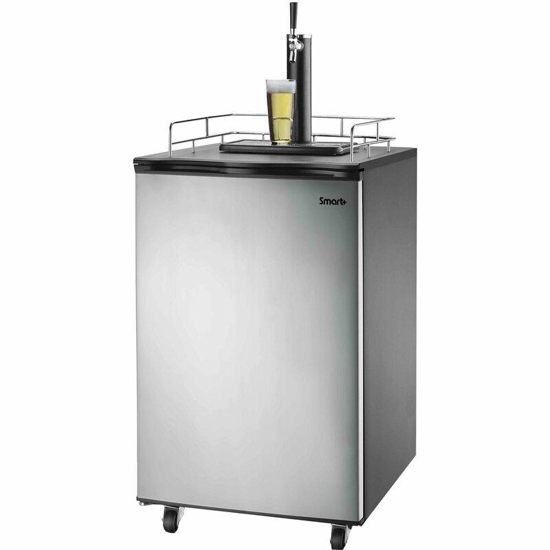 Kitchen Island Kegerator versonel smart plus single tap freestanding kegerator & reviews