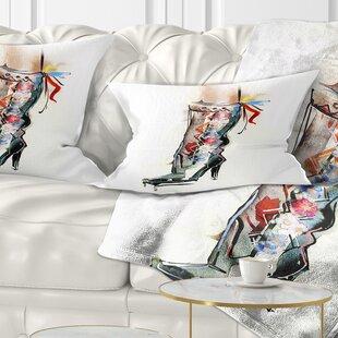 Attirant Abstract Decorative Shoe Lumbar Pillow