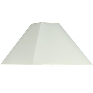 Square lamp shades wayfair 30cm cotton square lamp shade mozeypictures Gallery