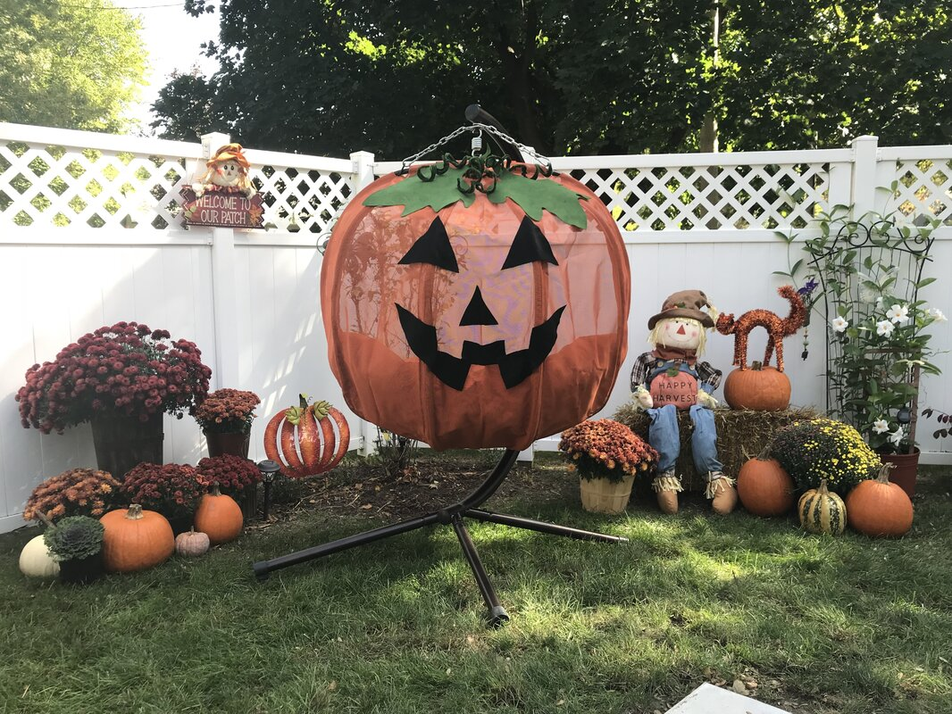 Flowerhouse Pumpkin Swing Chair With Stand Amp Reviews