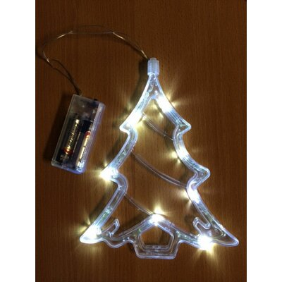 led battery operated christmas tree window light