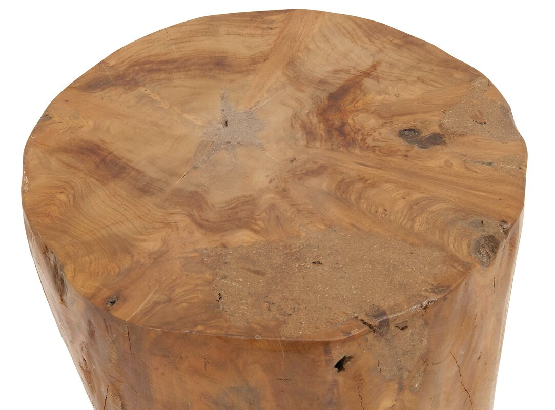 Perfect Wood Teak And Resin Garden Stool