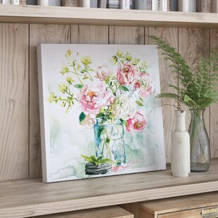 U0027Asbury Garden Belle Bouquet Iu0027 Acrylic Painting Print On Canvas