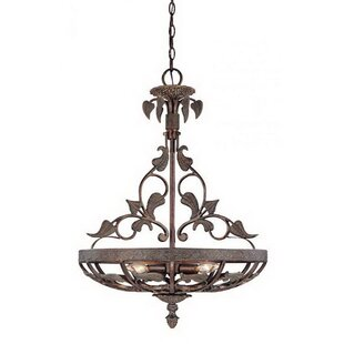 Glass bowl chandelier wayfair caffee 3 light bowl chandelier aloadofball Images