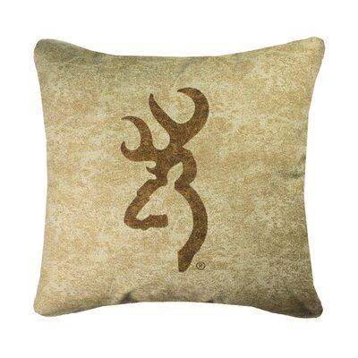 Buckmark Logo Throw Pillow Browning Color: Tan