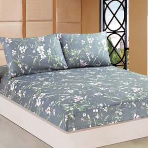 Cherry Blossom 100% Cotton Fitted Sheet Set