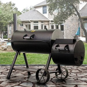 Oklahoma Joe's Longhorn Offset Charcoal Grill with Smoker