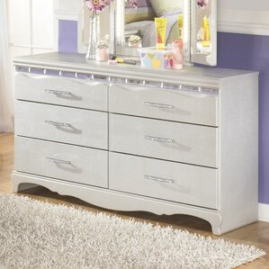 Sylvia 6 Drawer Double Dresser by Viv + Rae