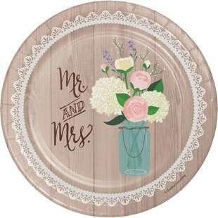 Rustic Wedding Paper Appetizer Plate (Set of 24)  sc 1 st  Wayfair & Wedding Paper Plates | Wayfair