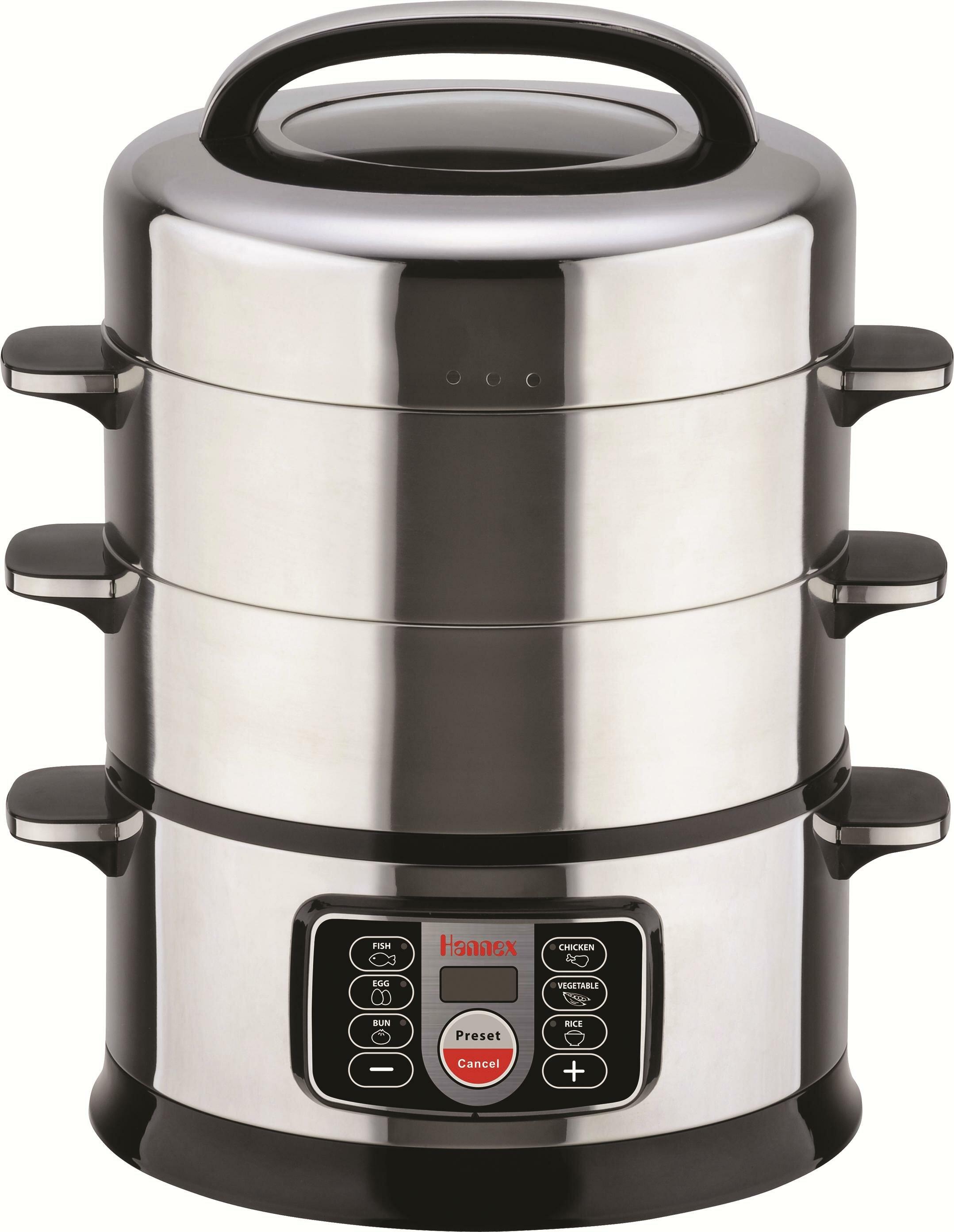 Merveilleux Hannex 17 Qt. 2 Tier Electric Food Steamer | Wayfair