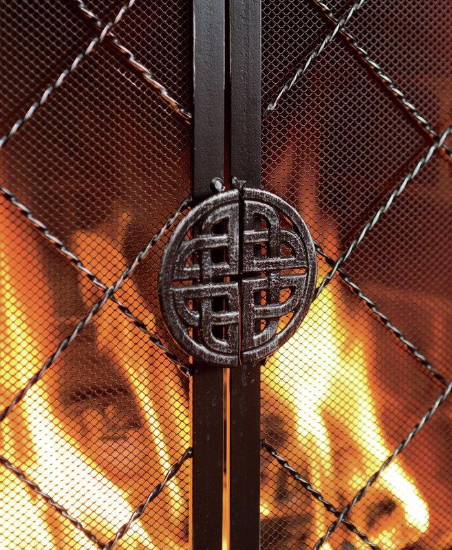 Plow & Hearth Single Panel Celtic Knot Firescreen & Reviews | Wayfair