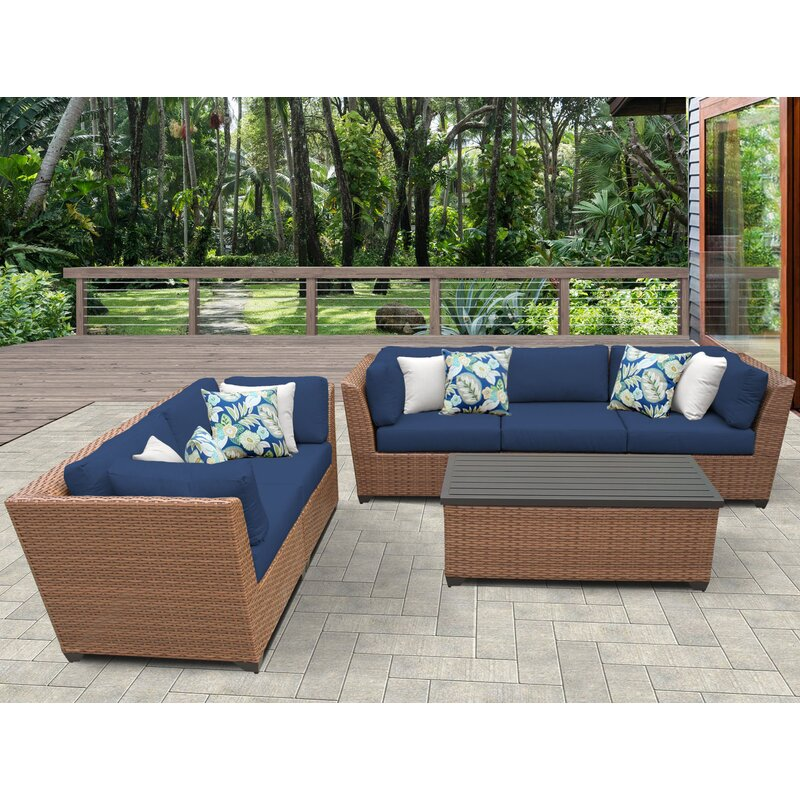 East Village 6 Piece Sofa Set With Cushions