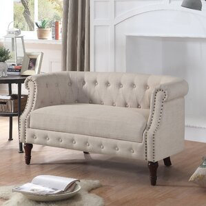Alcott Hill Edmeston Chesterfield Loveseat Image