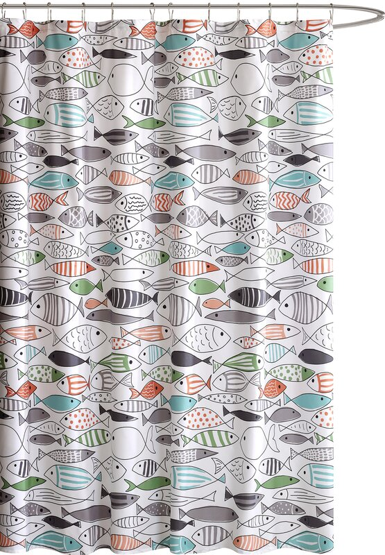 Albany Cotton Printed Shower Curtain & Reviews | AllModern