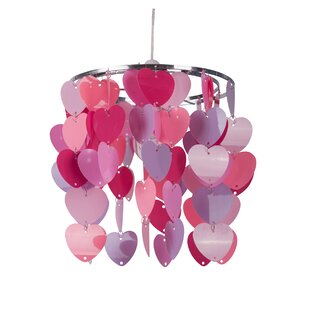Pink light shades wayfair non electric heart 22cm acrylic novelty pendant shade aloadofball Images