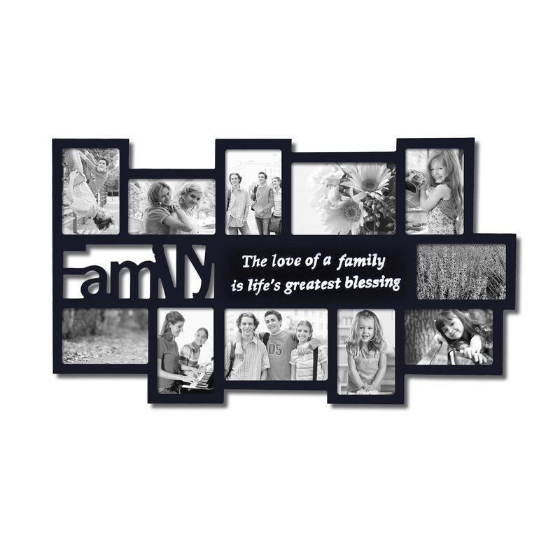Zipcode Design 11 Opening Wooden Photo Collage Wall Hanging Picture ...