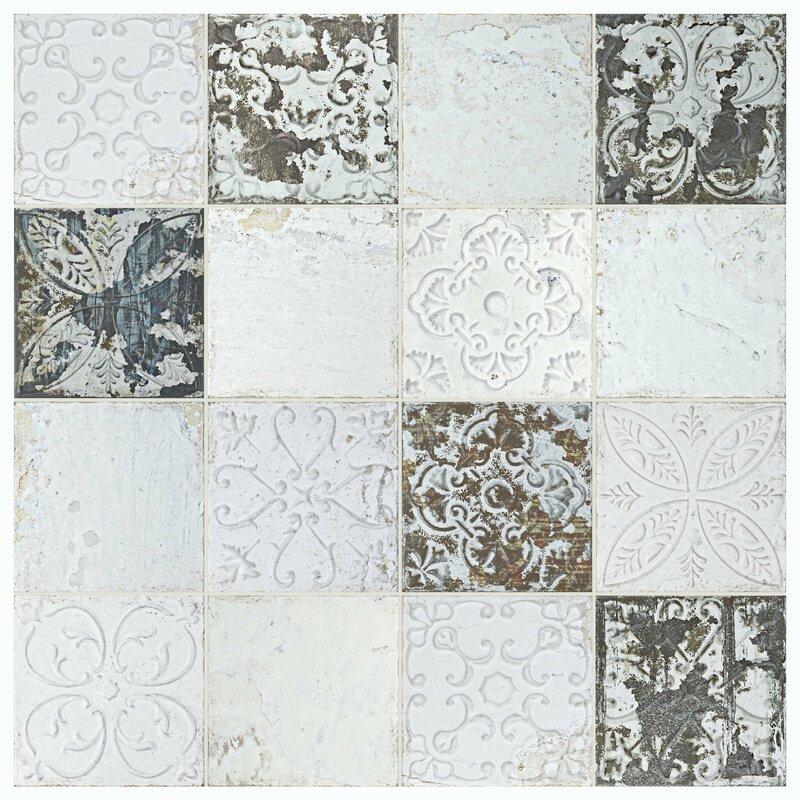 Aevit 7 88 Quot X 7 88 Quot Ceramic Field Tile In White Ornato