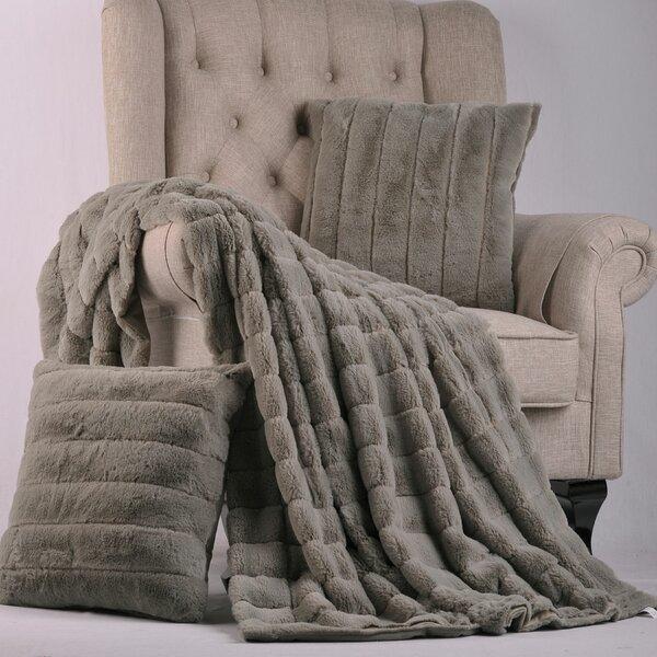 Light Grey Faux Fur Throw Wayfair Simple Flokati Throw Blanket