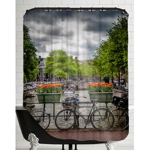 Famous Bicycle Shower Curtain | Wayfair OZ41