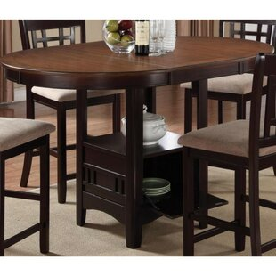 Jelks Dual-Tone Counter Height Extendable Dining Table
