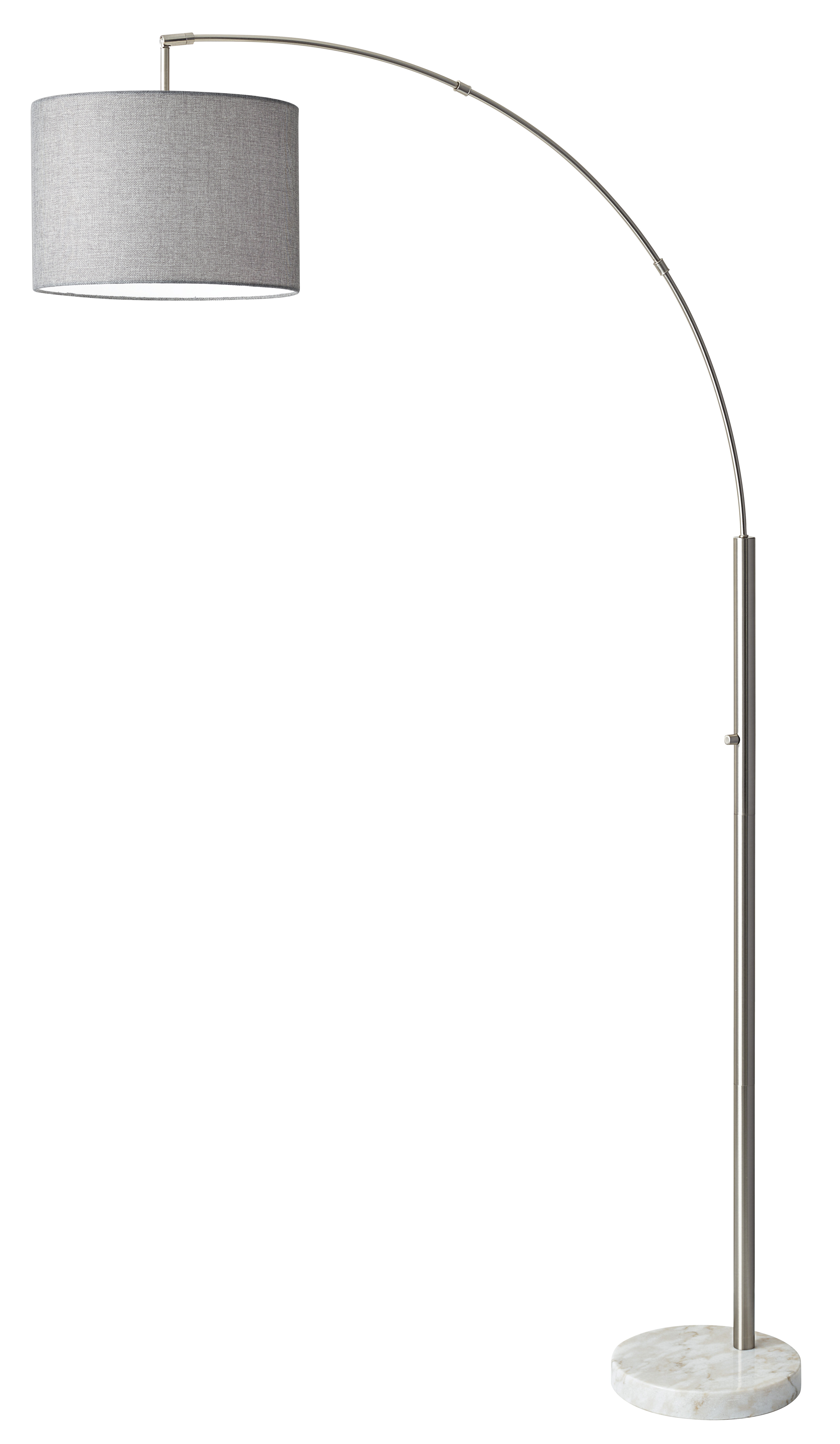Adesso Bowery 73 5 Quot Arched Floor Lamp Amp Reviews Wayfair