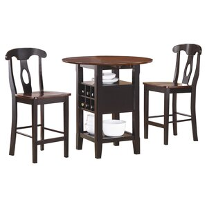 Therrien Atwood 3 Piece Dining Set by August Grove