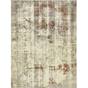Sela Traditional Vintage Persian Hand Woven Wool Distressed Ivory Area Rug