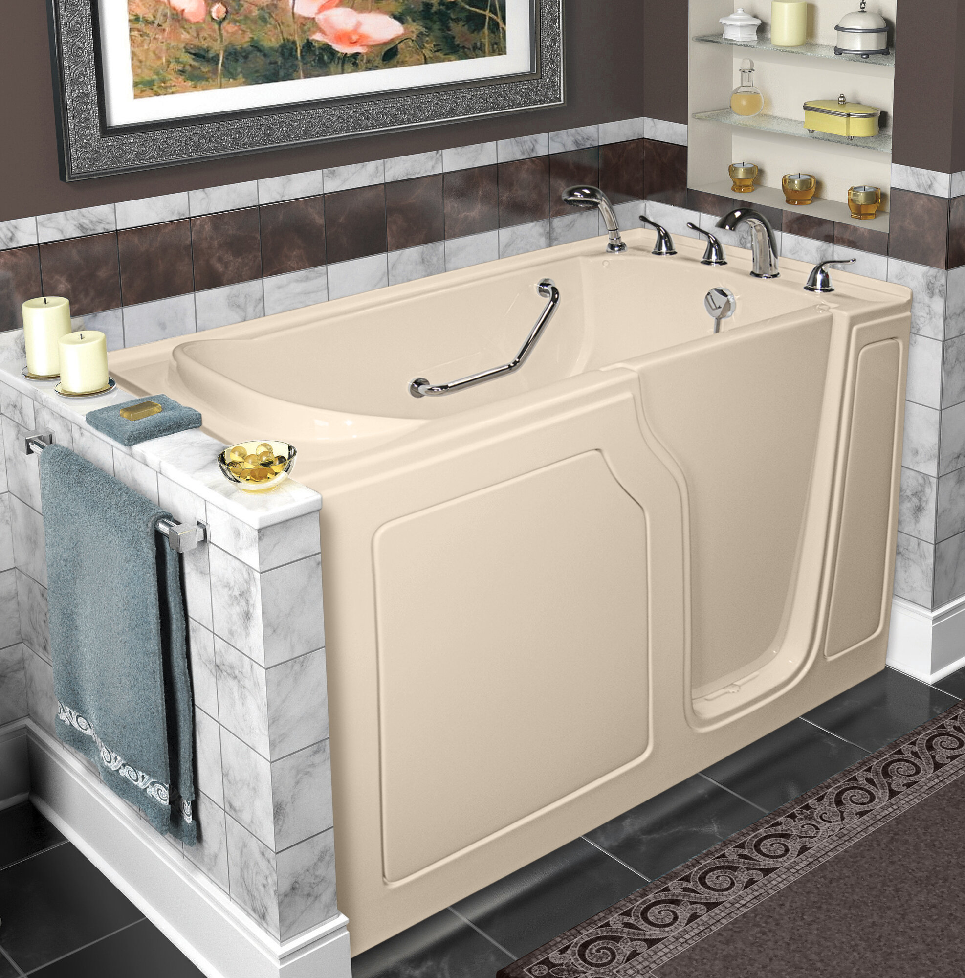 baths in accessible more to tub a secure with filler tubs bathe walk american b series bathroom luxury by standard combo way