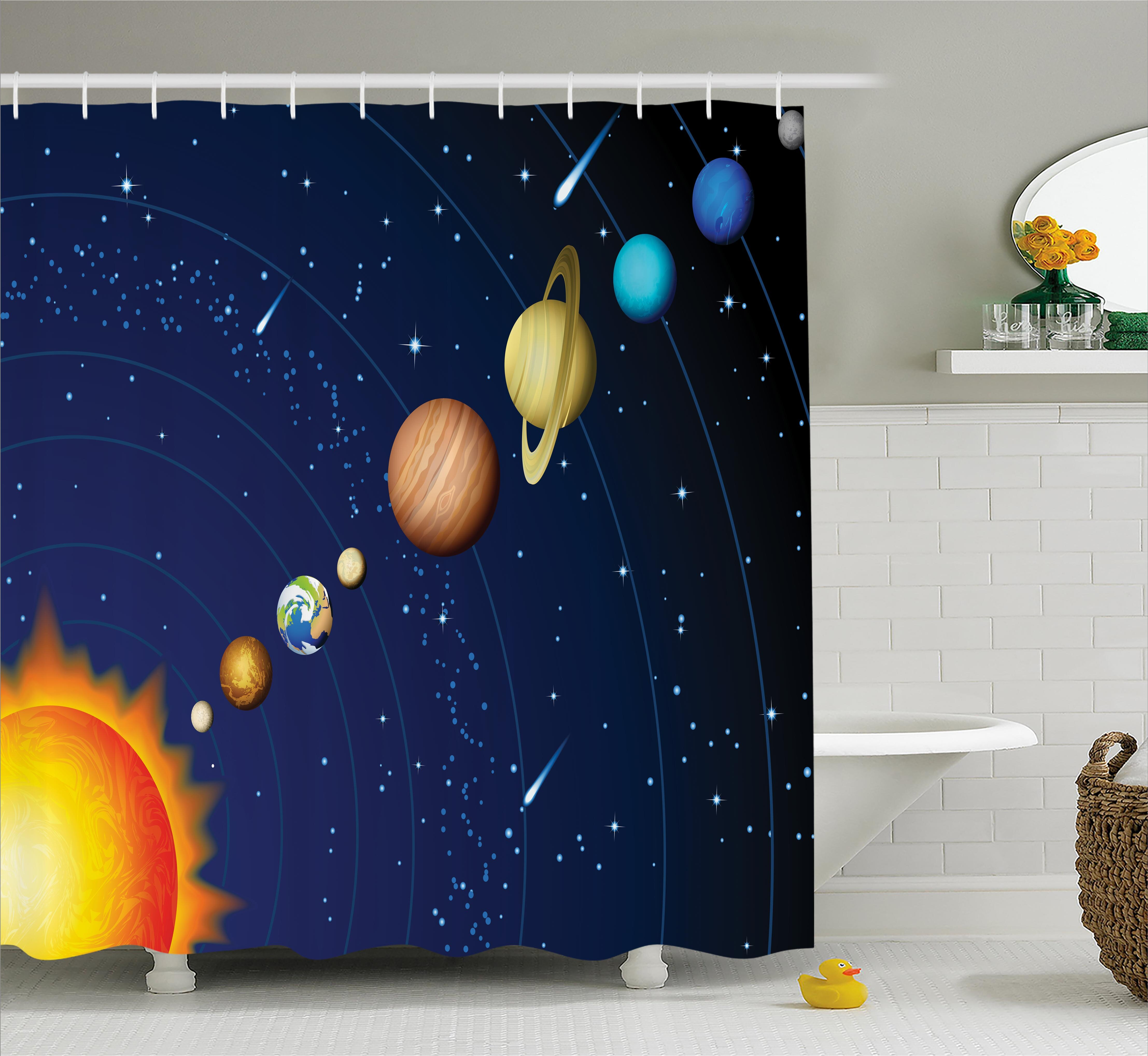 Harriet Bee Justyn Solar System With Sun Shower Curtain