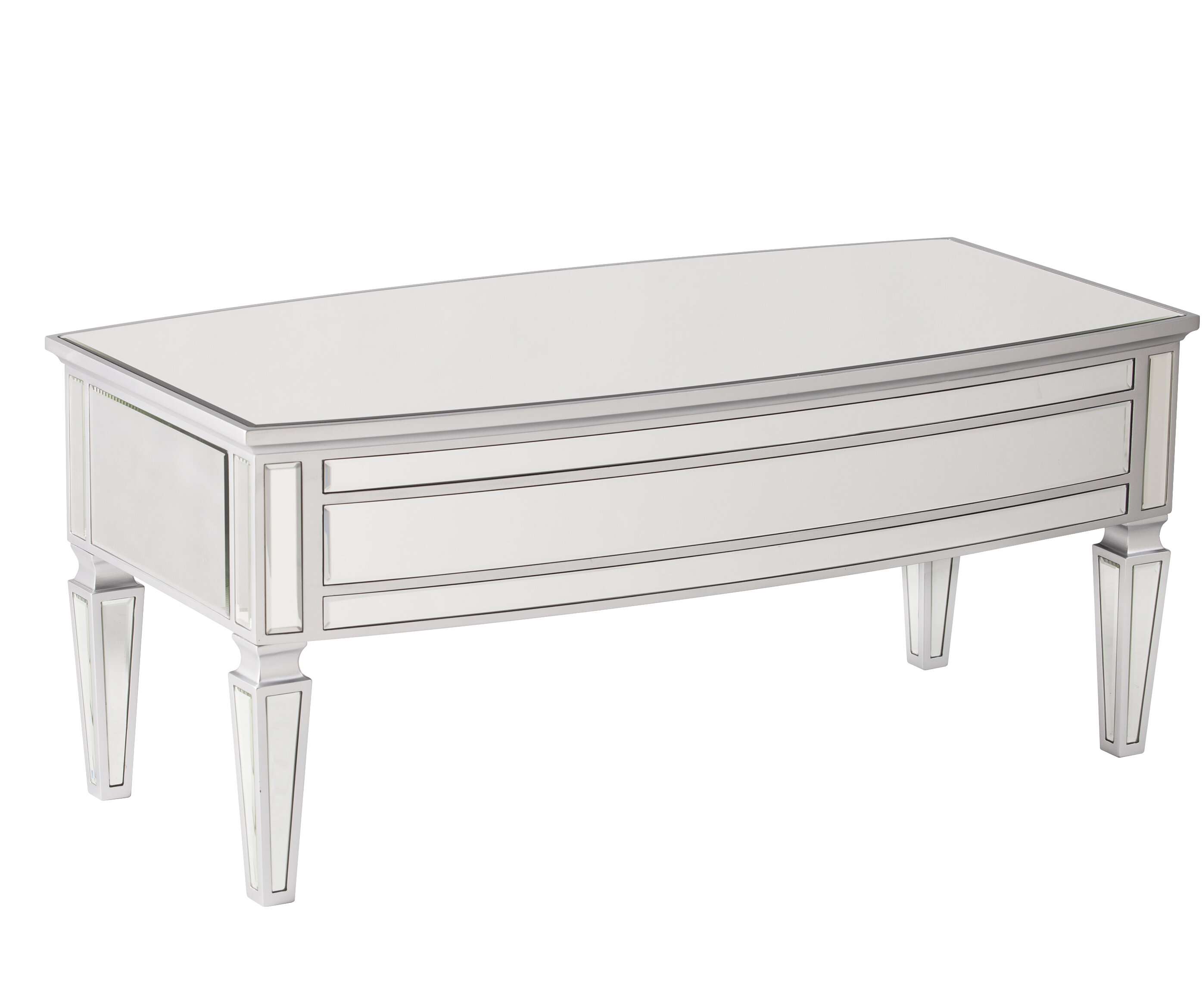 Elosie Mirrored Coffee Table & Reviews