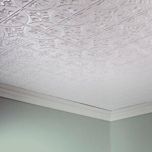 Ceiling tiles youll love wayfair glue up ceiling tile in gloss white tyukafo