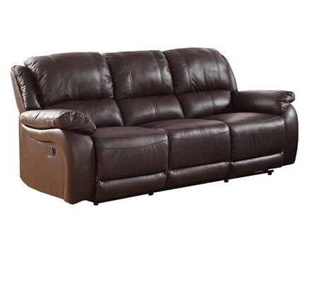 Perfect Latitude Run Juan Leather Reclining Sofa U0026 Reviews | Wayfair Part 15