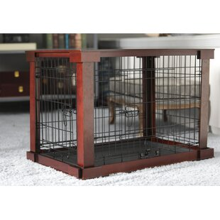 Ansel Deluxe Pet Crate In Brown