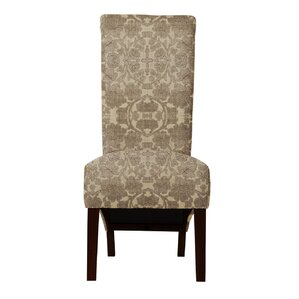 Audra Beige/Brown Parsons Chair (Set of 2) by Darby Home Co