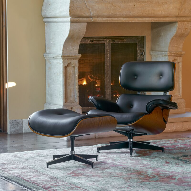 Omari Swivel Lounge Chair and Ottoman