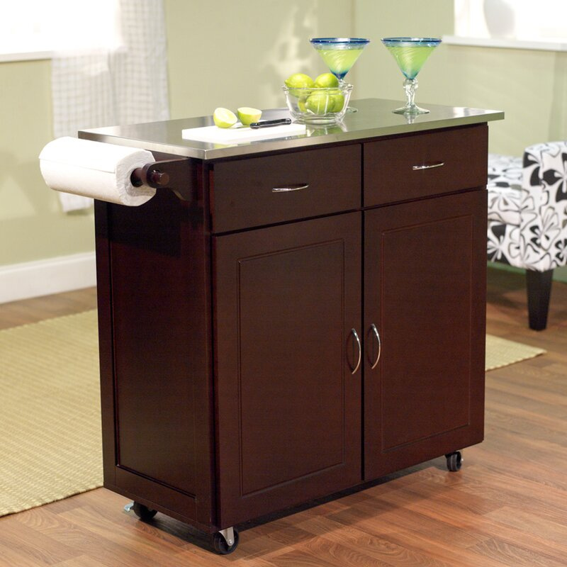 Charmant Southerland Large Kitchen Cart With Stainless Steel Top