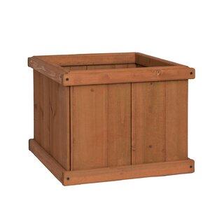 Wood planter boxes youll love wayfair latte cedar planter box workwithnaturefo