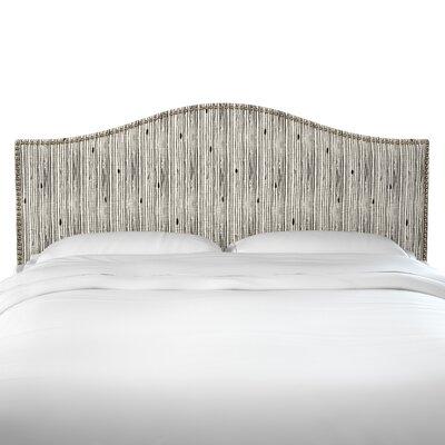 Brayden Studio Poyner Shibori Stripe Ink Linen Upholstered Panel Headboard Size: California King