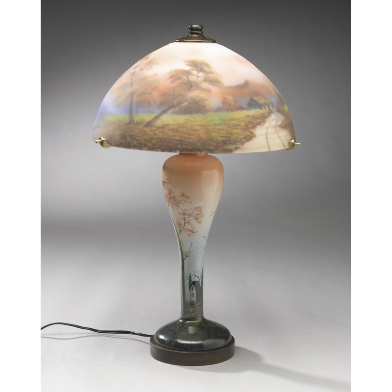 """AA Importing Reverse Painted 20"""" Table Lamp"""